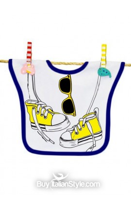 Bib with SUNGLASSES and SNEAKERS