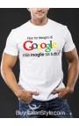 """T-shirt uomo mezza manica """"Non ho bisogno di Gooogle, mia moglie sa tutto"""""""