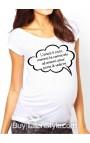 """T-shirt premaman manica corta """"L'amore è cieco ...mamma ha cominciato ad amarmi ancor prima di vedermi"""""""