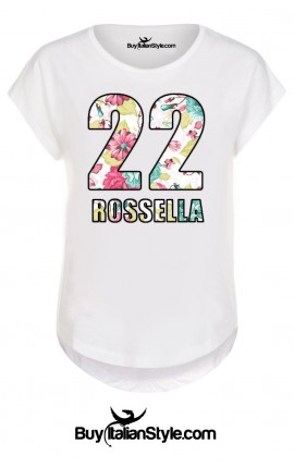 White woman half sleeve T-shirt CUSTOMIZED with NAME / NUMBER