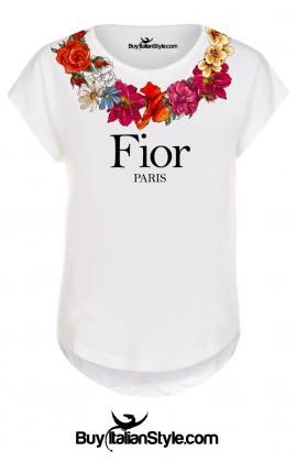 "T-shirt donna manica corta ""Fior"""