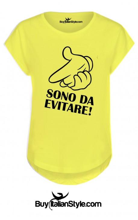 """T-shirt donna manica corta """"Sono da evitare"""""""