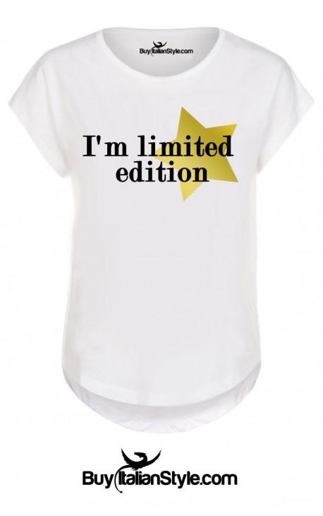 "T-shirt donna manica corta ""I'm limited edition"""