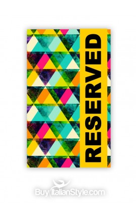 "Beach Towel ""Reserved"""