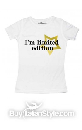 "T-shirt bimba mezza manica ""I'm limited edition"""