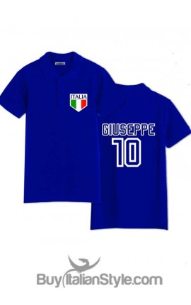 "Polo short sleeve ""Italy"" with NAME and NUMBER of your choice"