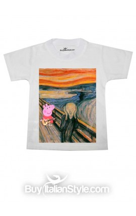 "T-shirt bimbo/a manica corta ""Salvateci da Peppa, please!"""