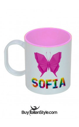 Customizable unbreakable plastic cup with name