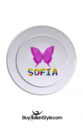 Customizable plastic plate with name