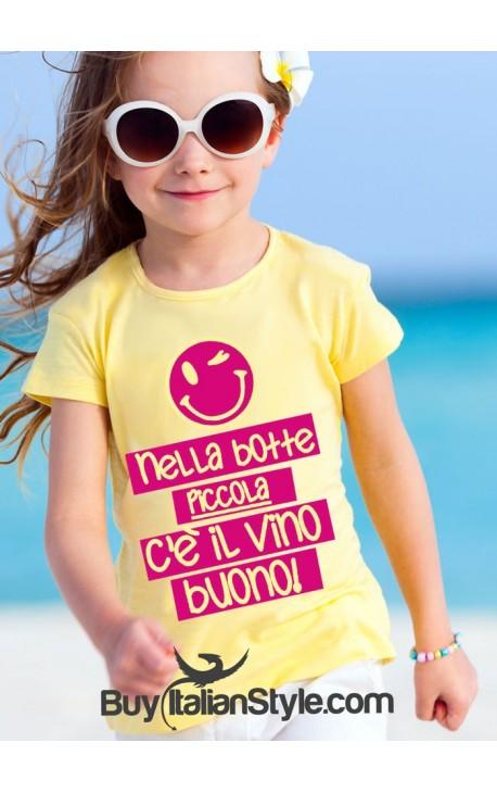 """T-shirt bimba """"Nella botte piccola c'è il vino buono"""""""