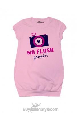 "Abitino bimba ""No flash, grazie"""