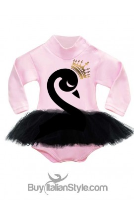 "Pink knit turtleneck Body ""Black Swan"""