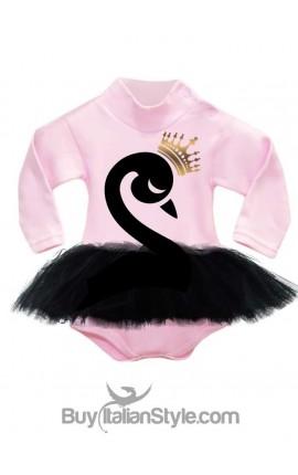 "Pink knit turtleneck Body ""Black Swan"""