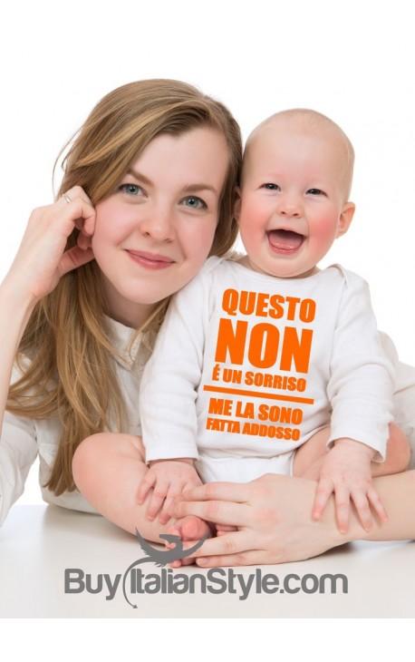 """Body neonato """"questo non è un sorriso"""""""