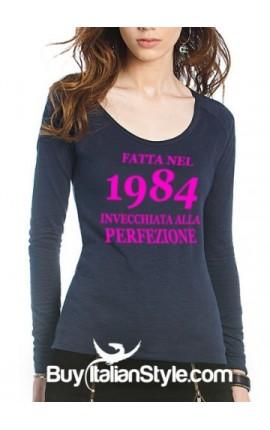 """T-shirt donna """"INVECCHIATA ALLA PERFEZIONE"""""""