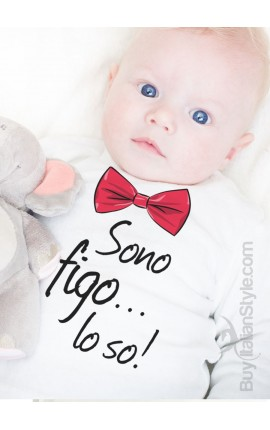 "T-shirt bimbo ""Sono figo lo so """