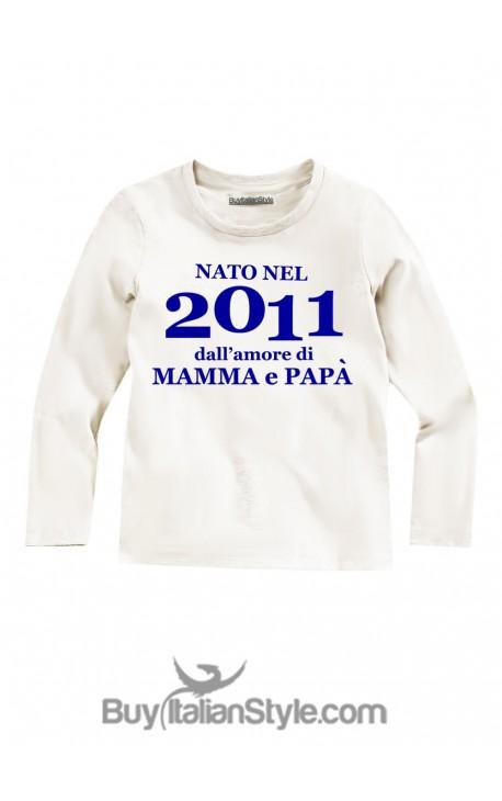 """T-shirt """"Nato dall'amore di mamma e papà"""""""