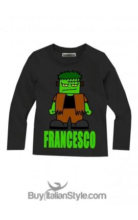 """T-shirt bimbo manica lunga """"Frankenstein"""""""