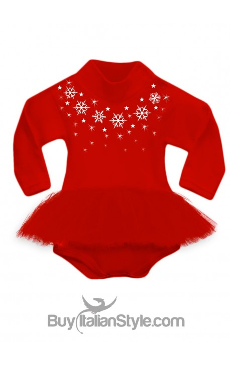 Bodysuit with red tulle skirt