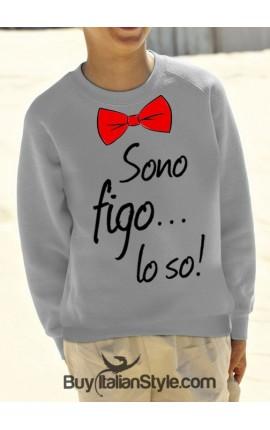 """Felpa """"Sono Figo lo so"""""""