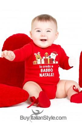 """Body lupetto """"io credo a Babbo Natale"""""""