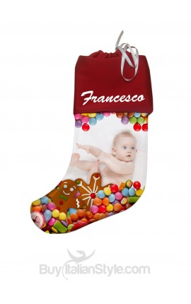 Customizable stockings with name and photo
