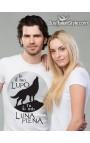 """T-shirt uomo """"Io il tuo lupo, tu la mia luna piena"""""""
