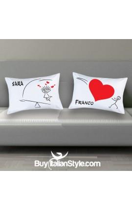 """HEART"" Couples pillowcases"