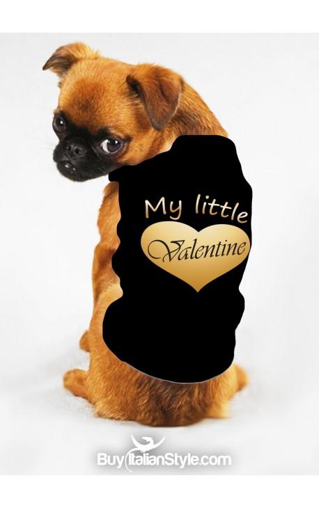 "T-shirt o felpa per cani ""My little Valentine"""