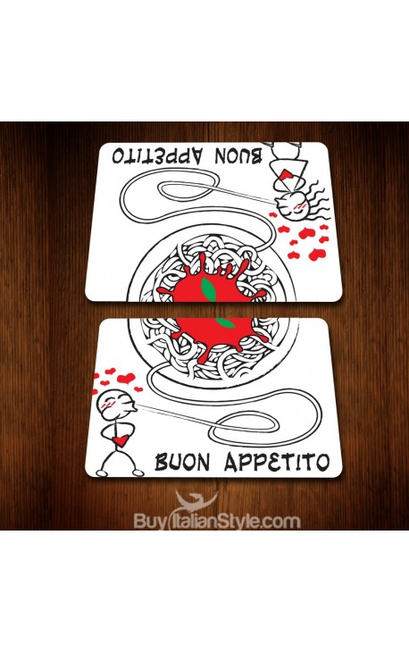 "Couple Placemat ""Spaghetti LOVE"""