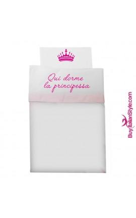 """Composè cullacarrozzina """"Qui dorme il principe / la principessa"""""""