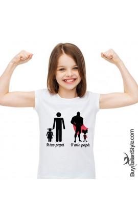"""T-shirt bimba """"Il mio papà"""""""