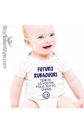 """Body neonato """"Futuro Rubacuori"""""""