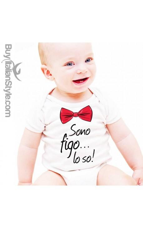 """Body neonato """"Sono Figo lo so"""""""