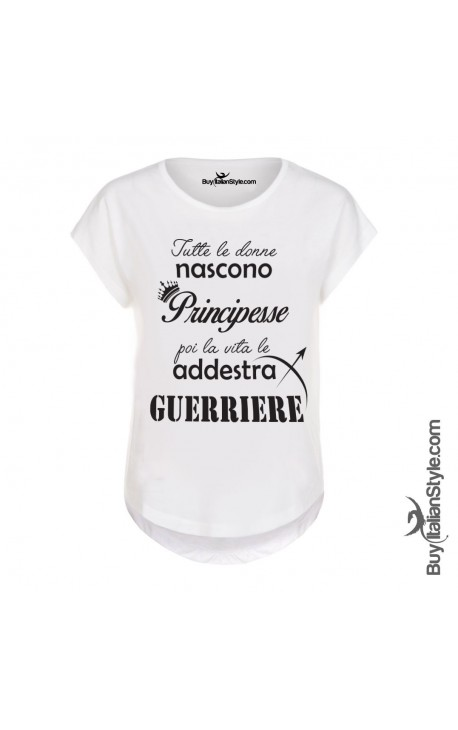 "T-shirt donna manica corta ""Donne guerriere"""