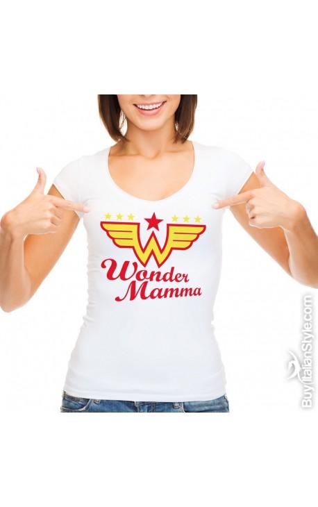 "T-shirt donna manica corta ""Wonder Mamma"""