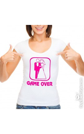 """T-shirt donna manica corta """"Game over"""""""