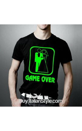 "T-shirt uomo manica corta ""Game over"""