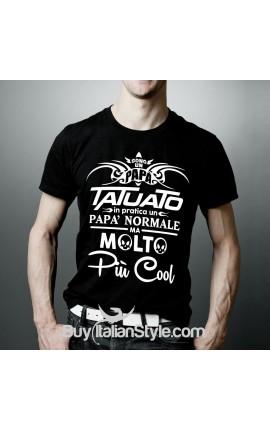 """T-shirt uomo mezza manica """"Papà tatuato"""""""