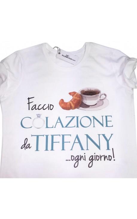 """T-shirt donna manica corta """"Colazione da Tiffany"""""""