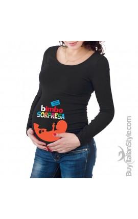 T-shirt premaman Bimbo sorpresa