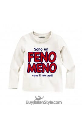 T-shirt bimbo manica lunga Sono un FENOMENO come il mio papà