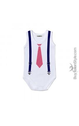 Bodysuit cravatta e bretelle