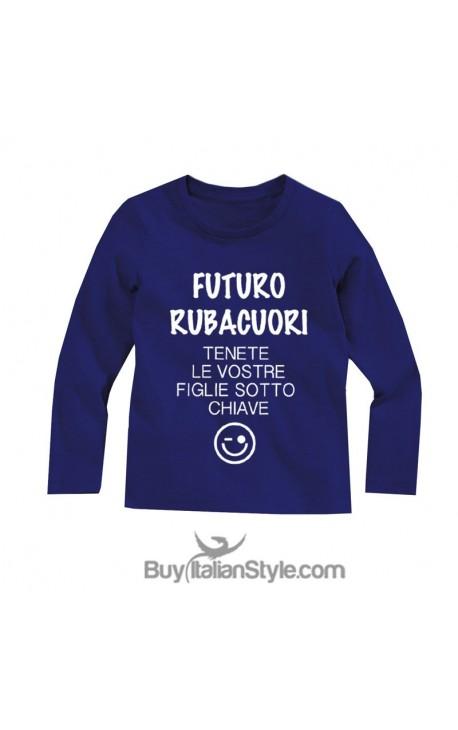 "T-shirt bimbo manica lunga ""Futuro Rubacuori"""