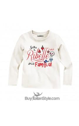 """T-shirt MANICA LUNGA """"sono il ribelle della famiglia"""""""