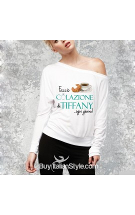 """Maglia DONNA """"Colazione da Tiffany"""""""