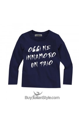 "T-shirt manica lunga ""oggi ne innamoro un paio"""