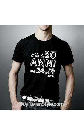 T-shirt uomo mezza manica Non ho 30 anni ma 24,59+iva