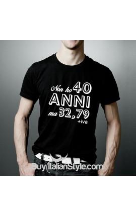 T-shirt uomo mezza manica Non ho 40 anni ma 32,79+iva