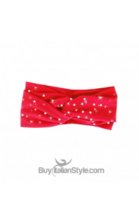 Red turban band with Christmas star